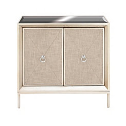 Hailee Wood and Metal 2-Door Cabinet