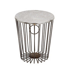 Rustic Industrial Metal Wire Stool