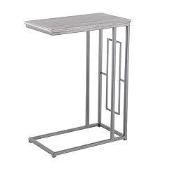Cara Wood and Metal C-Table