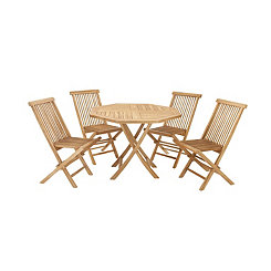 Teak Wood 5-pc. Outdoor Dining Set