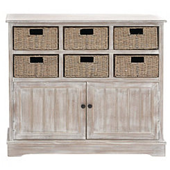 Giana 6-Basket Wooden Cabinet