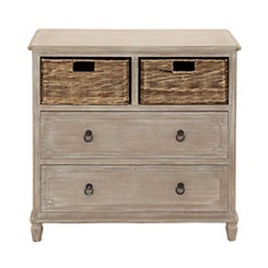 Rustic 4-Drawer Storage Chest with Baskets