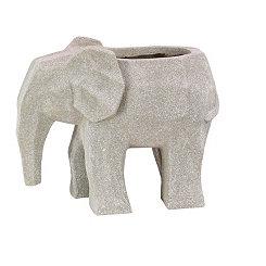 Gray Elephant Planter