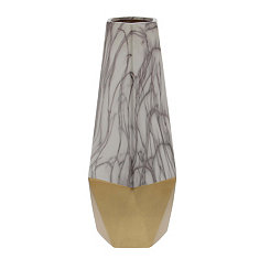 Tall Gold Marble Ceramic Vase