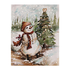 Country Snowman Canvas Art Prints, Set of 2