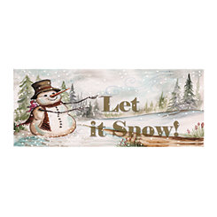 Let It Snow Country Snowman Canvas Art Print