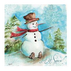 Watercolor Snowman Canvas Art Prints, Set of 2