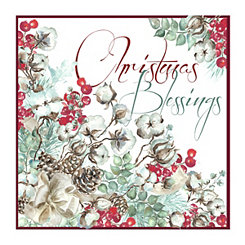 Red Christmas Blessings Canvas Art Print