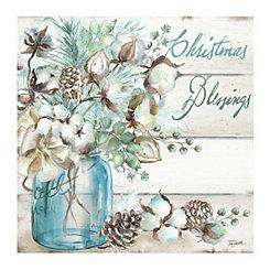 Blue Christmas Blessings Canvas Art Print