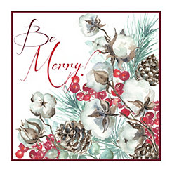 Red Be Merry Canvas Art Print