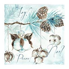 Joy Peace Noel Canvas Art Print