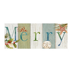 Beachy Be Merry Canvas Art Print