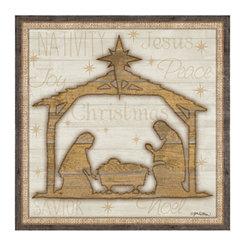 Wood Nativity Scene Canvas Art Print