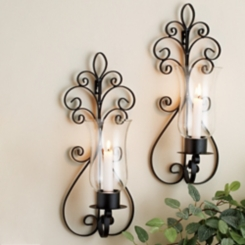 Paige Metal Wall Sconces, Set of 2