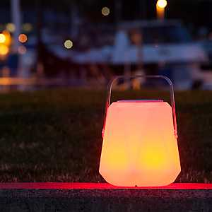 Geometric LED Lantern with Bluetooth Speaker