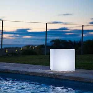 Cube Soft Glow Light with Bluetooth Speaker