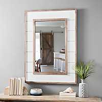 White Shiplap Framed Mirror