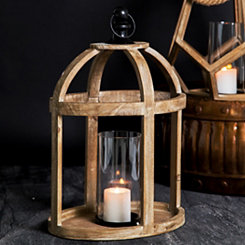 Brown Dome Wooden Lantern