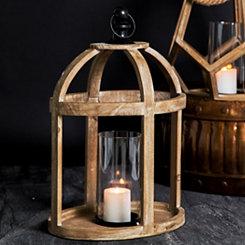 Brown Dome Wooden Lantern