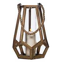 Geometric Wooden Lantern