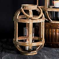 Distressed Rope Handle Lantern