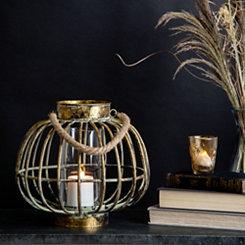 Gold Metal Round Lantern