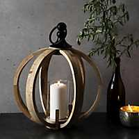 Natural Wood Sphere Lantern