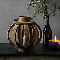 Brown Sphere Metal Handle Lantern
