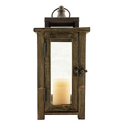 Vintage Wood Lantern, 12 in.