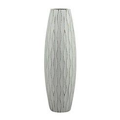 Blue Wave Wood Vase, 11.8 in.