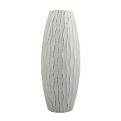 Blue Wave Wood Vase, 9.8 in.