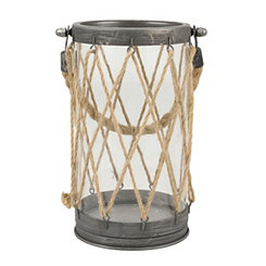 Zinc and Twine Lantern, 9 in.