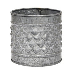 Antique Galvanized Metal Planter