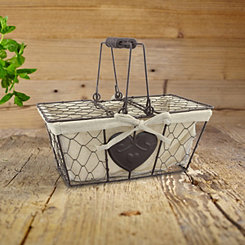 Lined Farmhouse Wire Basket