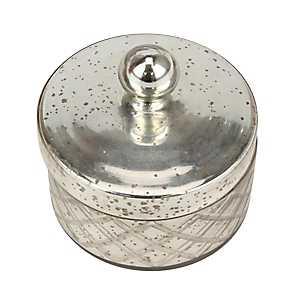 Round Mercury Glass Box