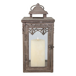 Zinc Filigree Lantern