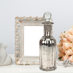 Mercury Glass Antique Bottle with Stopper