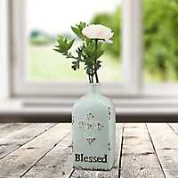 Blessed Cross Pale Blue Vase