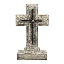 Distressed Wood Nail Cross