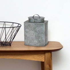 Galvanized Metal Square Container with Lid