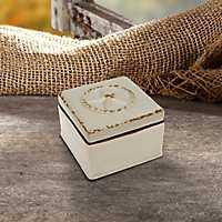 Western Star Worn White Ceramic Decorative Box