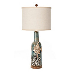 Seascape Blue Ceramic Table Lamp