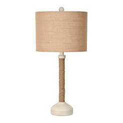 Sand White and Rope Table Lamp