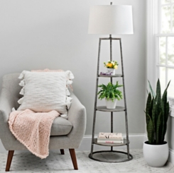 3-Tier Shelf Floor Lamp