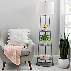 3-Tier Shelf Floor Lamp