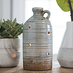 Distressed Soft Blue Vessel Night Light