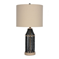 Indigo Beaded Metal Table Lamp