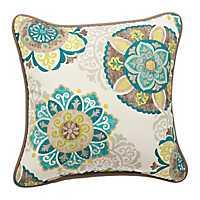 Turquoise Suzani Outdoor Pillow