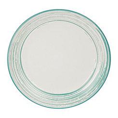 Aqua Scratch Dinner Plate
