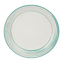 Aqua Scratch Salad Plate